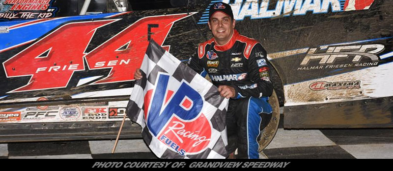 Stewart Friesen wins at Grandview Speedway Bruce Rogers Memorial